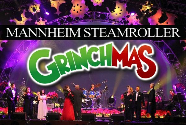 "The music of Dr. Seuss' ""How the Grinch Stole Christmas!"" Mannheim Steamroller Grinchmas Live! is family fun entertainment."